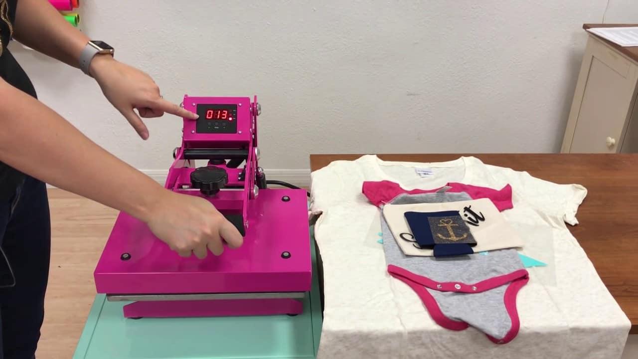 pink heat press