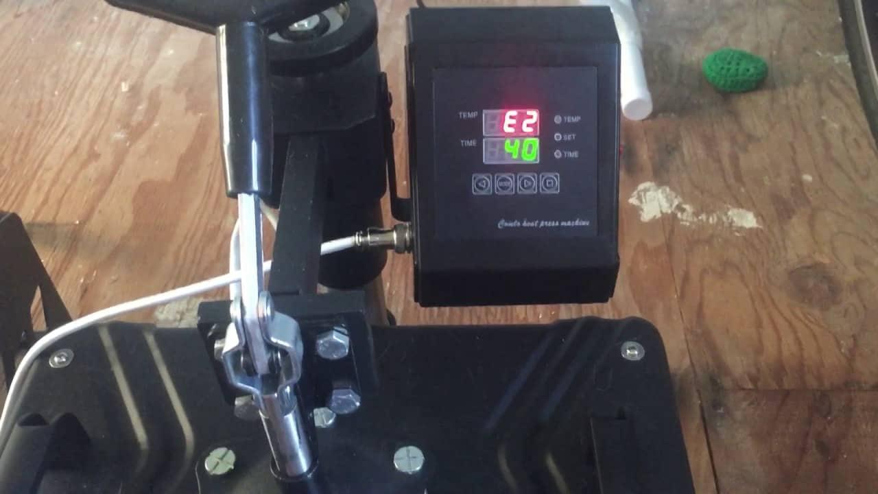 heat press error codes